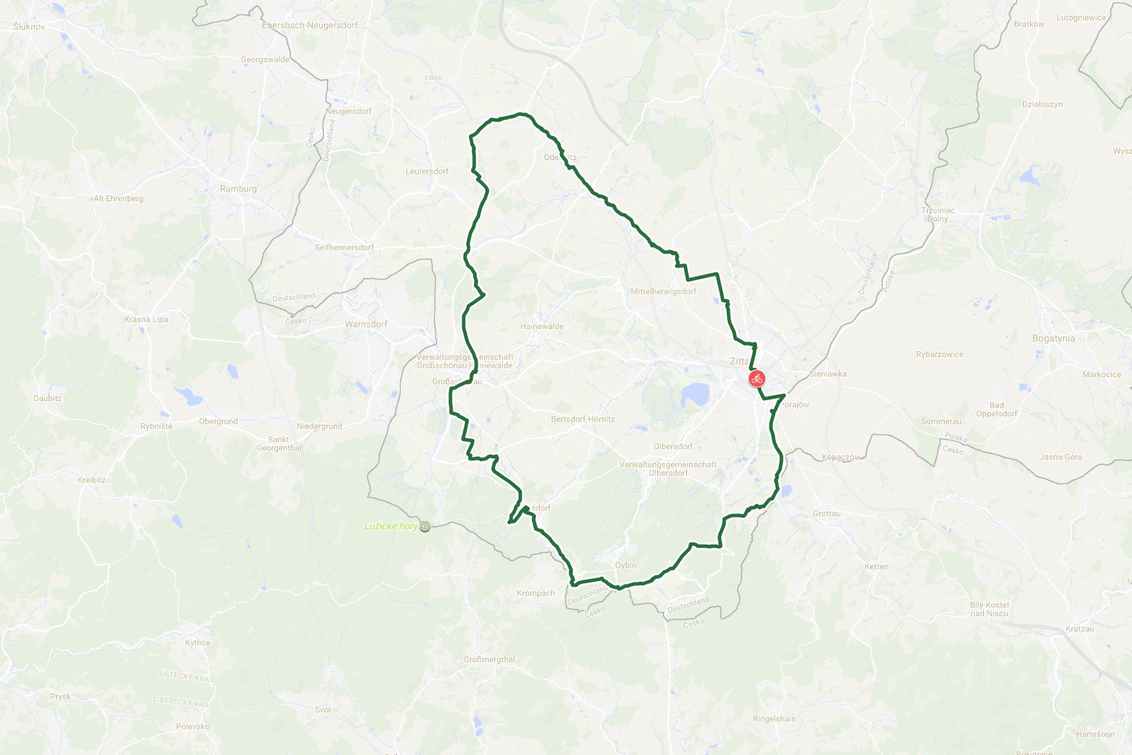Zittau - Gebirgstour Trekkingbike