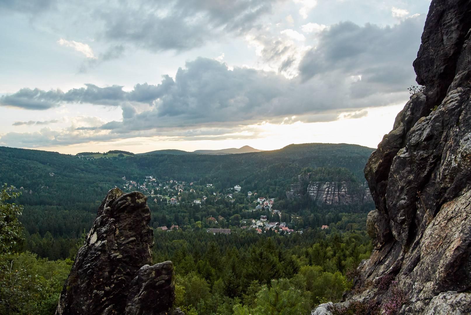 Scharfenstein - Ausblick Oybin